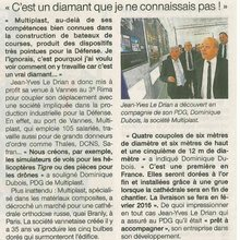 Ouest France 04 avril Dia